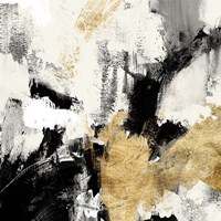 Neutral Gold Collage II Fine Art Print