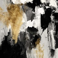 Neutral Gold Collage IV Fine Art Print
