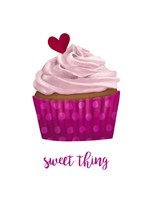 Valentine's Cupcake II Fine Art Print