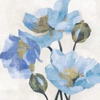 Azure Peony II Fine Art Print