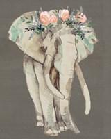 Flower Crown Elephant I Fine Art Print