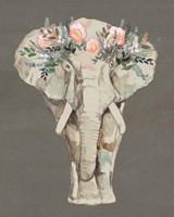 Flower Crown Elephant II Fine Art Print