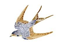 Jeweled Barn Swallow II Fine Art Print