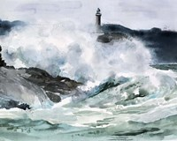 Lighthouse Waves II Fine Art Print