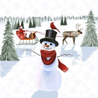 Santa's Snowmen II Fine Art Print