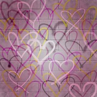 Graffiti Hearts I Fine Art Print