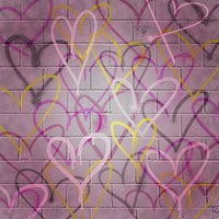 Graffiti Hearts II Fine Art Print