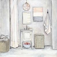 Neutral Bath I Fine Art Print