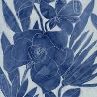 Blue Lagoon Silhouette I Fine Art Print