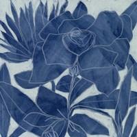 Blue Lagoon Silhouette II Fine Art Print