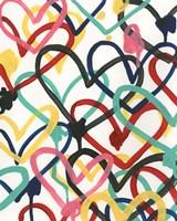Heart Scribbles I Fine Art Print