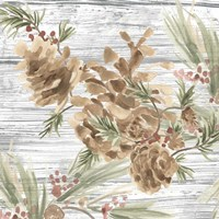 Pinecone Lodge III Fine Art Print