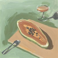 Still Life with Papaya I Fine Art Print