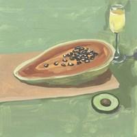 Still Life with Papaya II Fine Art Print