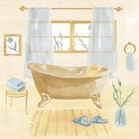 Golden Bath II Framed Print