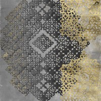 Golden Filigree I Framed Print