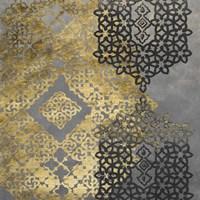 Golden Filigree II Framed Print