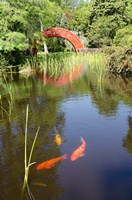 Alabama, Theodore Bridge and Koi Pond at Bellingrath Gardens Fine Art Print