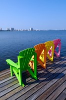 Adirondack Chairs, Orange Beach, Alabama Fine Art Print
