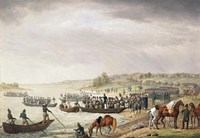 Italian Corps of Eugene de Beauharnais Crossing the Niemen on 30 June 1812, (1815) Fine Art Print
