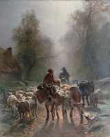 On the Way to the Market, 1859 Fine Art Print