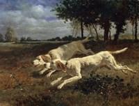 Running Dogs, 1853 Fine Art Print