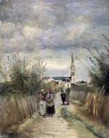 Bell Tower in Argenteuil (Road to the Church), 1870s Fine Art Print