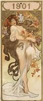 Calendar for the year 1901, c1900 Fine Art Print