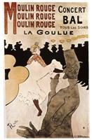 La Goulue au Moulin Rouge, 1892 Fine Art Print