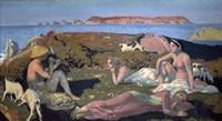 The Green Beach, Perros Guirec, 1909 Fine Art Print