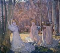 Figures in Spring Landscape (Sacred Grove), 1897 Fine Art Print