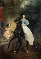 Horsewoman, Portrait of Giovanina and Amazillia Pacini, 1832 Fine Art Print
