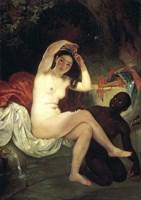 Bathing Bathsheba, 1832 Fine Art Print