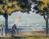 The Church of Santa Maria degli Angeli near Assisi, 1909 Fine Art Print