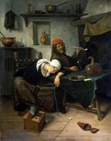 The Idlers, c1660 Fine Art Print