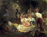 The Fountain of Bahcesaray, 1849 Fine Art Print