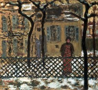 Behind the Fence, 1895 Fine Art Print