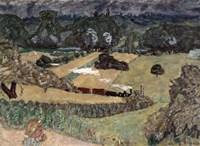 Landscape with Freight Train, 1909 Fine Art Print