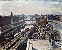 View of the Seine and the Statue of Henry IV, c1906 Fine Art Print
