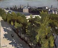 Quai du Louvre and Pont Neuf, 1906 Fine Art Print