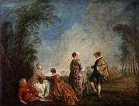 An Embarrassing Proposal, 1715-1716 Fine Art Print