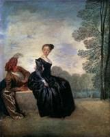 A Capricious Woman (La Boudeuse), 1718 Fine Art Print