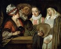 Actors of the Comedie Francaise, 1711-1712 Fine Art Print