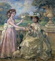 Two Girls on a Terrace, 1903 Fine Art Print