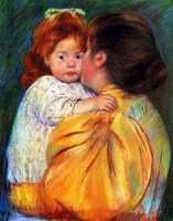 Maternal Kiss, 1896 Fine Art Print