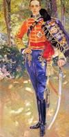 Portrait of King Alfonso XIII in a Hussars Uniform, 1907 Fine Art Print