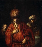 Haman Recognizes His Fate (David and Uriah), 1665 Fine Art Print