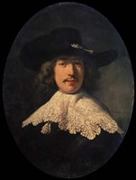 Portrait of a Young Man with a Lace Collar, 1634 Fine Art Print