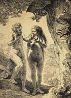 Adam and Eve, 1638 Fine Art Print