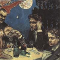 The Symposium, (Study) Right Jean Sibelius, 1894 Fine Art Print